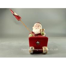 Светодиодная подсветка керамических ремесел для Christams, Санта-Клаус для рождественских украшений