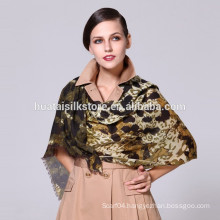 Leopard Printed Pure Wool Lady Scarf