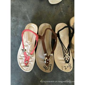 Sandália flip flops chinelo mulheres senhoras handwork artesanato tpr sapatos