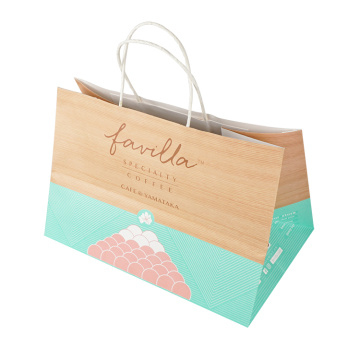 Bakery Cake Cookie Kraft Paper Bag With Handle