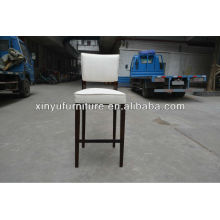 Solid wood upholstered high feet bar chair