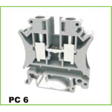 6mm2 DIN Rail Screw Cage Clamp Terminal Blok