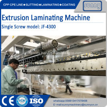 Thermal film extrusion coating machine