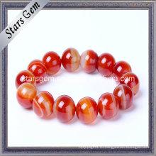 Бразильский браслет из натурального браслета красного цвета