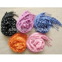Fashion printed 100 cotton girl's scarf