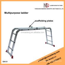 multi purpose ladder with scaffold plates