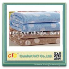 100% lana de poliéster sólido o impreso polar manta