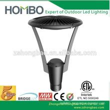 ETL DLC outdoor led garden lighting pole lights fixtures