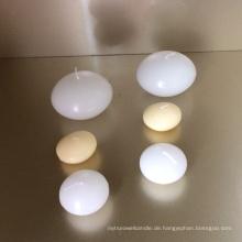 Weißes rundes schwimmendes Kerzenparaffinwachs