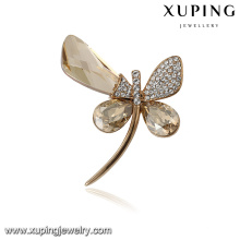 00091 Xuping modern popular animal dragonfly brooch pin fashionable jewelry Crystals from Swarovski