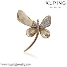 00091 Xuping moderno popular animal libélula broche pin moda jóias Cristais de Swarovski