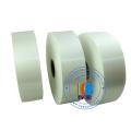 Ruban en tissu adapté aux besoins du client de tissu de taffetas de polyester de taille Ruban de satin lavable de label de vêtements imperméables blancs