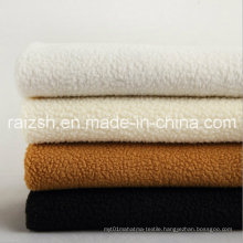 Lamb Plush Fabrics Dyed Polyester Clothing Shoes Lining Fabric