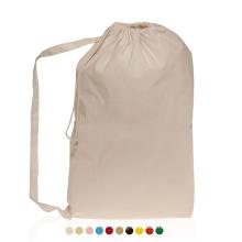 Heavy Duty Printing Foldable Washing Cotton Hotel Laundry Bag Canvas Drawstring Travel Laundry Bag