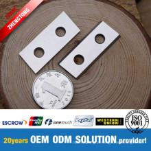 Faca reversível de metal duro de quatro pontas para plainas portáteis
