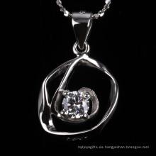 Colgante de la joyería de plata de la forma irregular de la venta entera