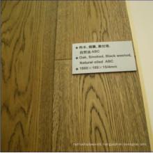 Smoked Black Washed Natural Oiled Engineered Oak Flooring