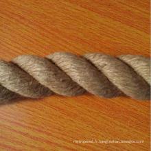 Corde d'emballage de corde de jute de haute qualité de 6mm