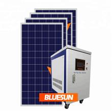 Kit de sistema de panel solar industrial de 10 kW. Sistema de energía solar fotovoltaica fuera de la red.