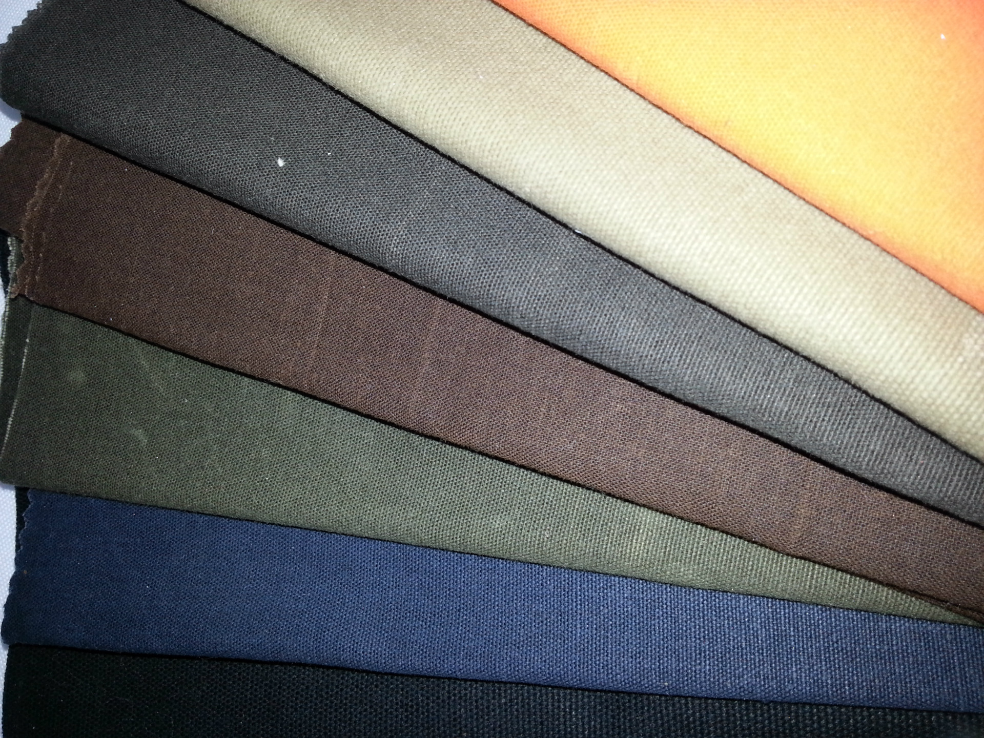 waxed coated canvas tarpaulin