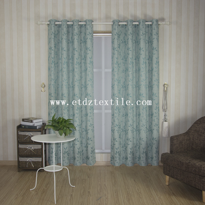 6006-14 100% Polyester Linen Like Jacquard Curtain Fabric