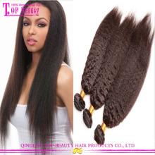 Оптовая продажа класс 7а монгольские странный прямые волосы девственницы kinky прямая плетение волос