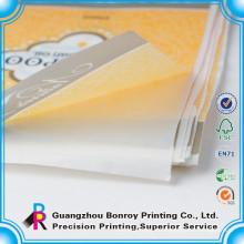 impresión de etiqueta adhesiva personalizada de papel de color