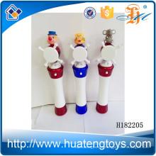 H182205 Newest kids cute cartoon animal head windmill flash stick toy for sale
