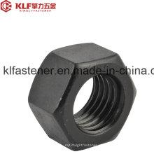 ISO4032 / Gr8 / Aço de carbono / M5-52 / porca hexagonal com zinco preto