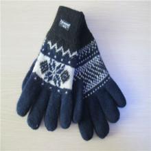 hombres paño grueso y suave forro guantes tejidos Jacquard