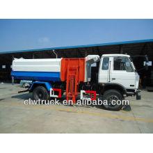 Dongfeng 4 * 2 camión de basura con colgante elevador de cubo