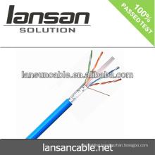 Lansan utp cat6 cable lan cable 4P 23AWG BC pass fluke test good quality
