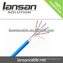 Lansan utp cat6 cabo lan cabo 4P 23AWG BC passagem fluke teste de boa qualidade