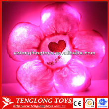 plush stuffed flower pillow LED night light kids cushion