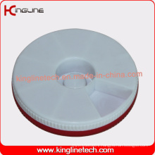 Plastic Round 7 Days Weekly Pill Box (KL-9067)