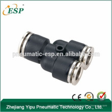 ningbo mnufacturer ESP brand Plastic fittings with brass sleeve, black fittings, high pressure fittings