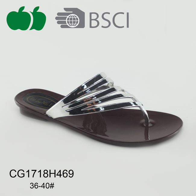Ladies Newest Elegant Hot-Selling Pvc Slippers
