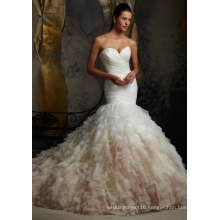 Memraid Strapless Organza Mermaid Bridal Gowns (5101)