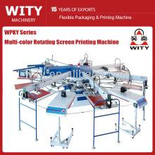 WPKY Series Multicolor Automático textil pantalla máquina de impresión