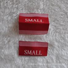 Белый шрифт Сложенный размер этикетки для одежды