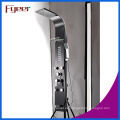 Fyeer Multifunction Massage Rainfall Panel de ducha negro de acero inoxidable