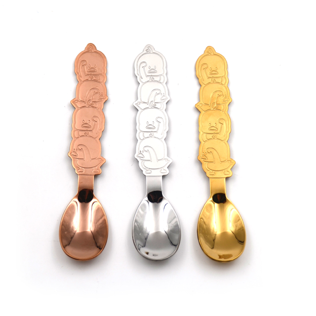 Cute Duck Stainless Steel Ice Cream Spoon