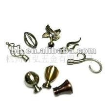 hot sell twist 16/19/22/25/28mm iron curtain rod finial, beautiful curtain rod finials