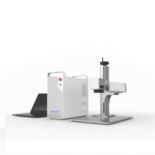 Desktop Fiber Laser Marking Machine with Original Parts 200X200mm Ring Laser Engraving Machine for Plastic Bottle Max Laser
