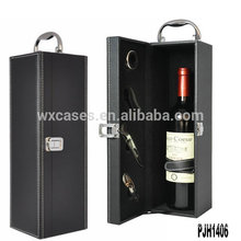 New arrival luxury leather wine box for single bottle wholesales