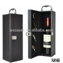 Оптовая Новые прибытия роскоши кожи вина ящик для одной бутылки