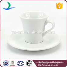 Factory direct ceramic cup and saucer with customized logo wholesale