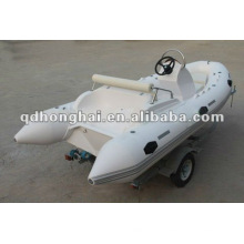 NEW fiberglass hull RIB420C boat with CE