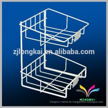 Haushalt 2 Stufen Draht Platzierung Shamboo Flasche Wand Bad Ecke Regal
