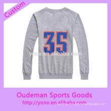 Personnalisé usine prix basket-ball sport o-neck hoodies